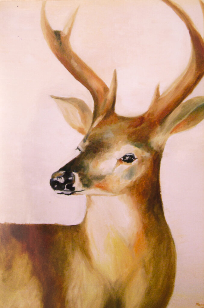 Michael Z.,12-year-old Oil painting