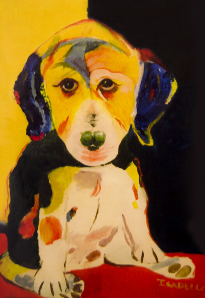 Isabella C.,12-year-old Oil painting