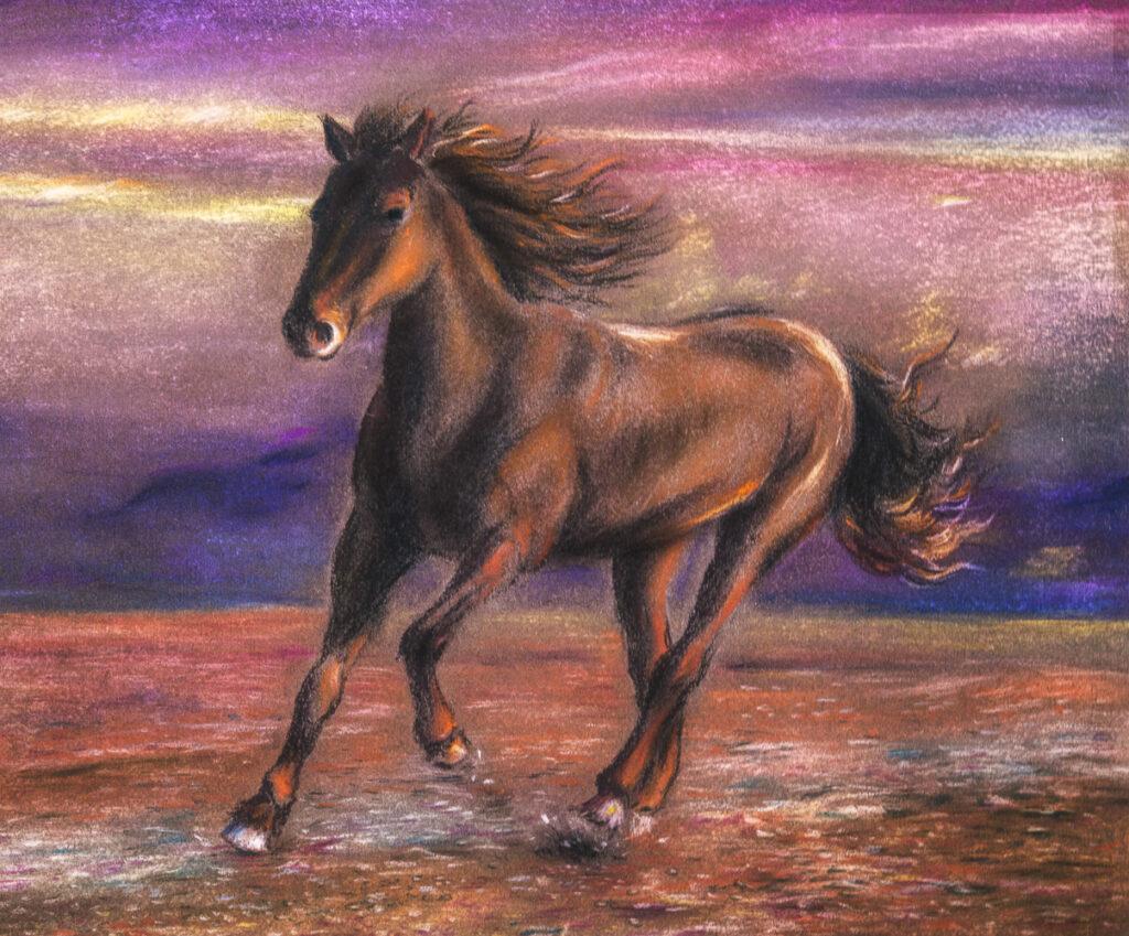 Sieun L., 16-year-old Pastel painting