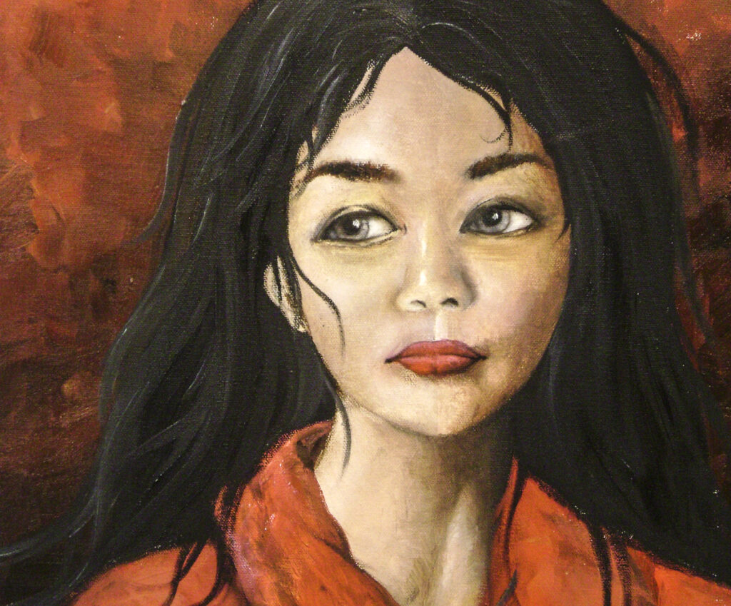 Grace Q., 12-year-old Oil painting