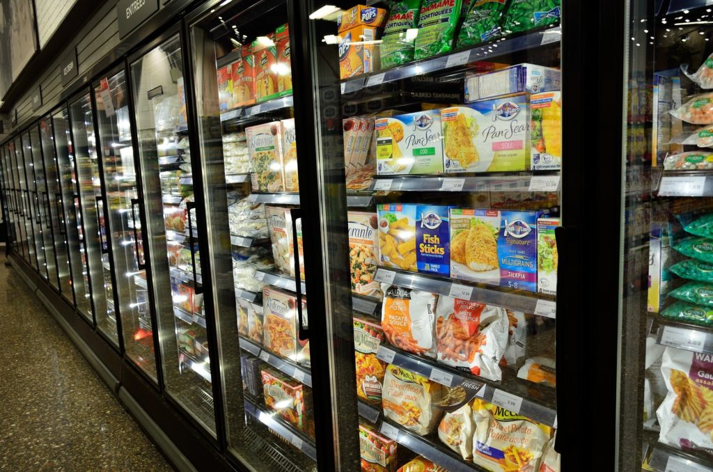 frozen food in shopping centre