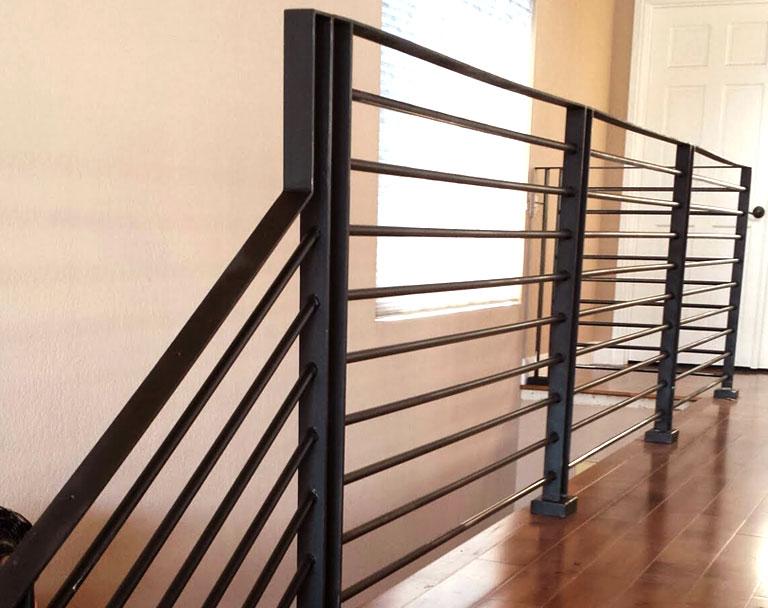 Black painted Steel Stairs in Home