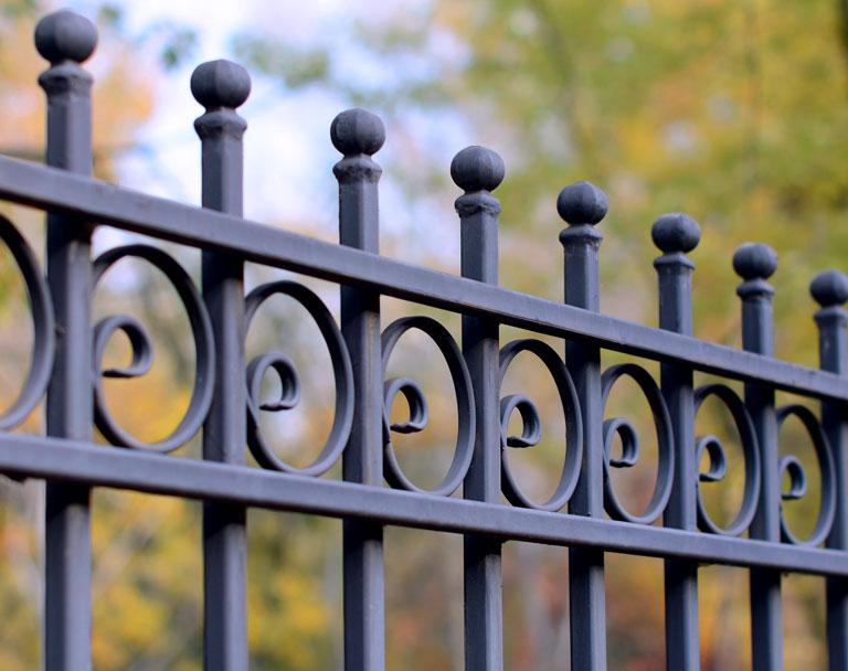 Decorative cast iron wrought fence