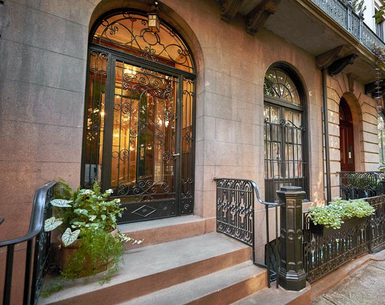 Ornate brownstone building