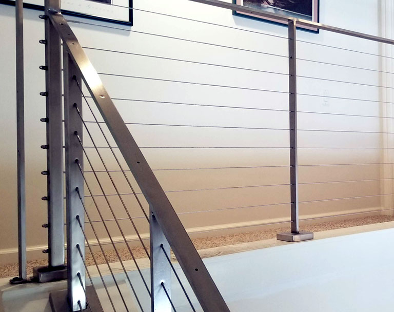 Stainless Steel Cable Railing in home