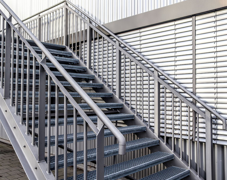 Stairs at a modern architecture building