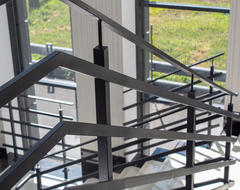 Steel Stairs in Office