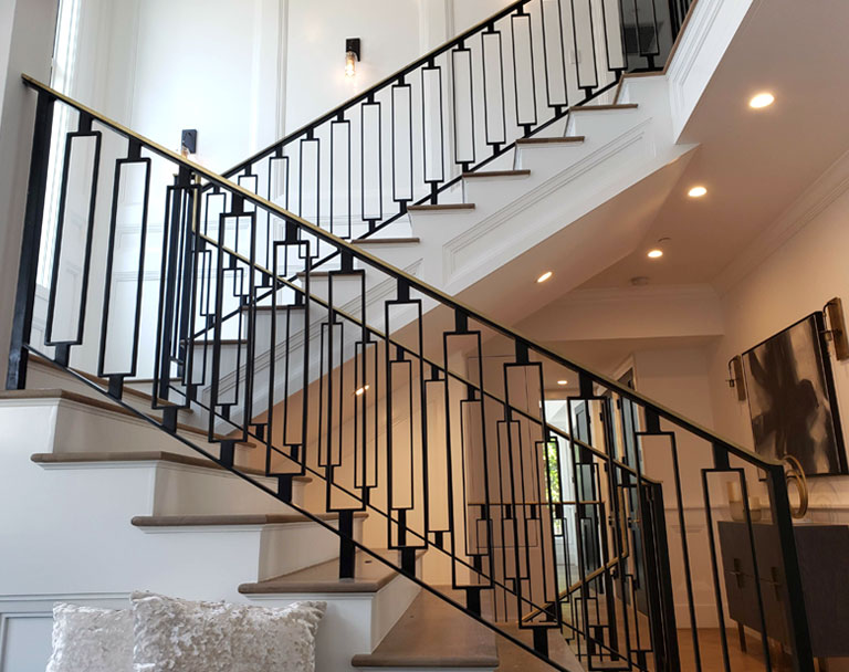 Steel Stairs in a Residential Home