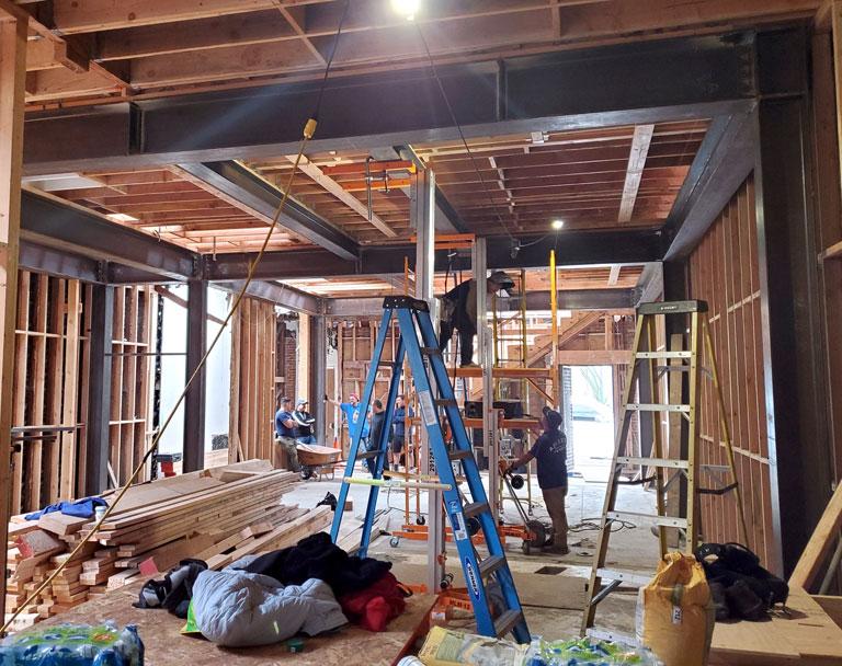 Welders Installing Commercial Structural Steel