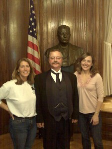 Jenny Wiegand, Joe Wiegand (as TR) and Yours Truly under a Watchful Eye.