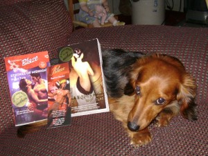 Daisy Jane settles in with a good Hope Tarr book. Photo courtesy of Her Person, Rebecca G.