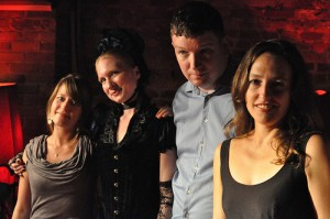 Founders Syndrome...From left to right, Maya Rodale, Leanna Renee Hieber, Ron Hogan & Hope.