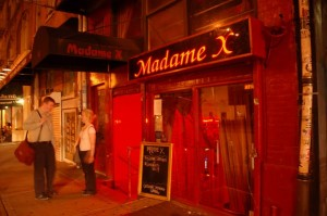 Madame X in Soho, New York City's sexiest lounge.