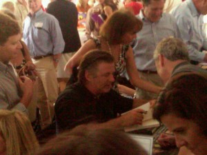 Founding Event Chair, actor Alec Baldwin, was thronged with eager book buyers, especially the ladies.