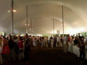 Under The Big Top at the East Hampton Library Authors Night.