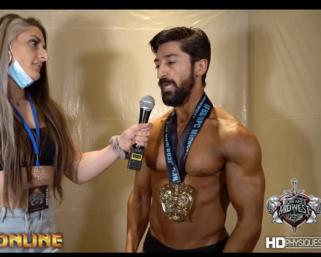 2020 NPC Midwest Naturals Men's Classic Physique Overall Winner Ghassan Khalaf After Show Interview