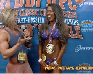 2020 IFBB Pro League Optimum Classic Interviews: Bikini Winner Jen Ronzitti  with Brooke Walker