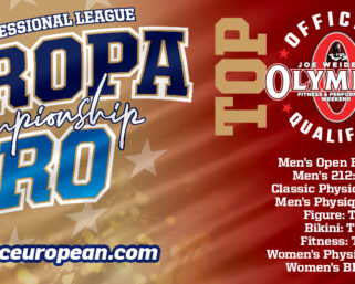 HUGE NEWS FOR THE 2020 @ifbb_pro_league EUROPA PRO CHAMPIONSHIPS!!!