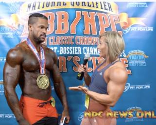 2020 IFBB Pro League Optimum Classic Interviews: Men's Physique 3rd Place Clarence McSpadden