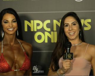 2020 NPC North American Championships Bikini Over 35 WinnerNOELLEAGNEW after show interview