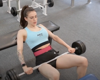 IFBB Pro League Bikini Pro Skylar Lanier Workout At The NPC Photo Gym Video