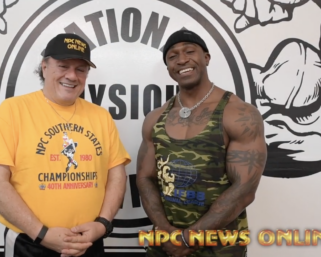 IFBB Pro League Men's Physique Charjo Grant interviewed by J.M. Manion