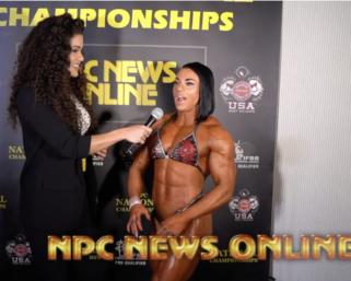 2020 NPC National Championships Women's Physique Overall Winner Angela Yeo