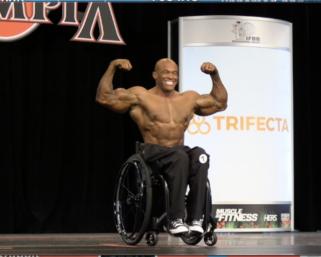 2020 @mrolympiallc wheelchair Champion Harold Kelley Posing Routine