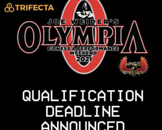 2021 Olympia Qualifying Cut-Off Date