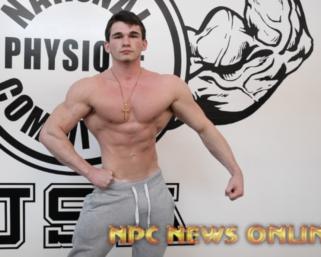 Road To The NPC Pittsburgh 2021: Cam Loughran NPC Men's Physique Posing Practice