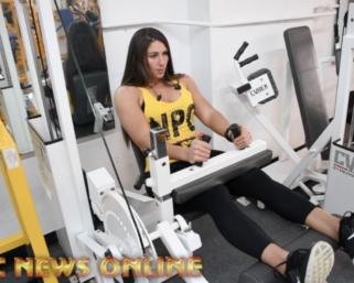 NPC True Novice Figure Competitor Shaylee Ianno Training At the NPC Photo Gym