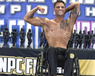 2021 NPC Wheelchair Nationals Men's Bodybuilding Overall  Dillon Depiazza Posing Routine
