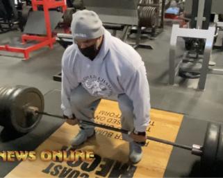 "IFBB Pro League Bodybuilder Juan ""Diesel""  Morel 600lb Deadlift Video"