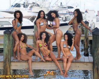 Bikini Beach Bodies-Curly Hair Photo Shoot In A Marina Part 1