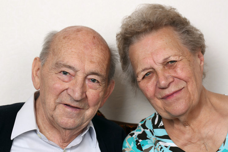 two older people family photo