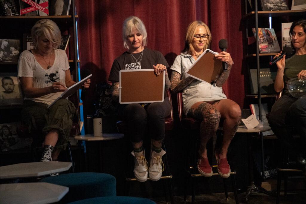 The Lunachicks at their book launch