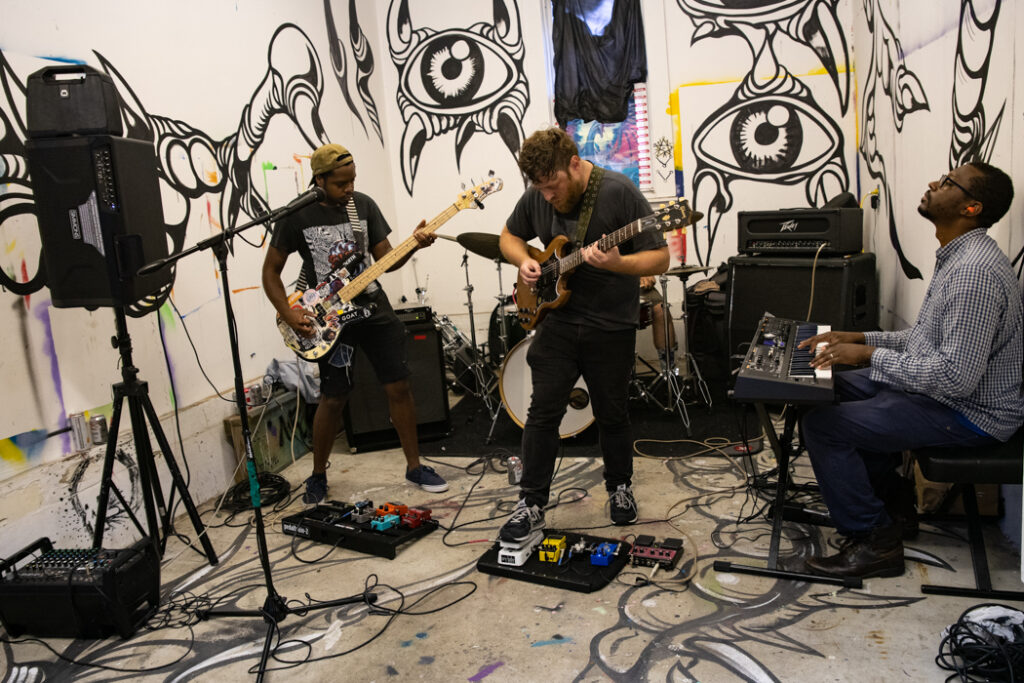 Rube performing at a house show