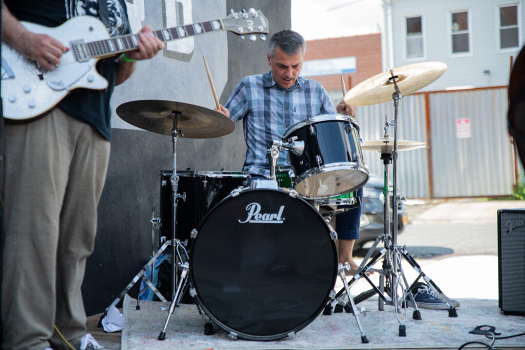 Savak performing outside 18th Ward Brewery