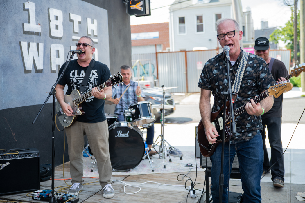 Savak performing outside of 18th Ward Brewery