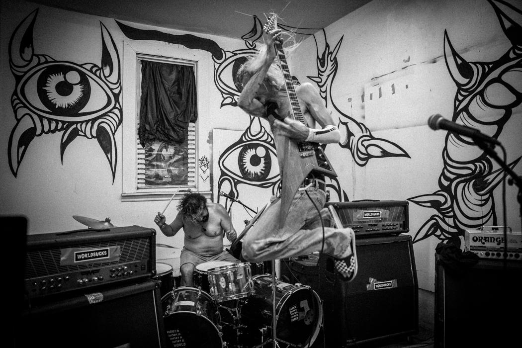 WORLDSUCKS performing at a house show