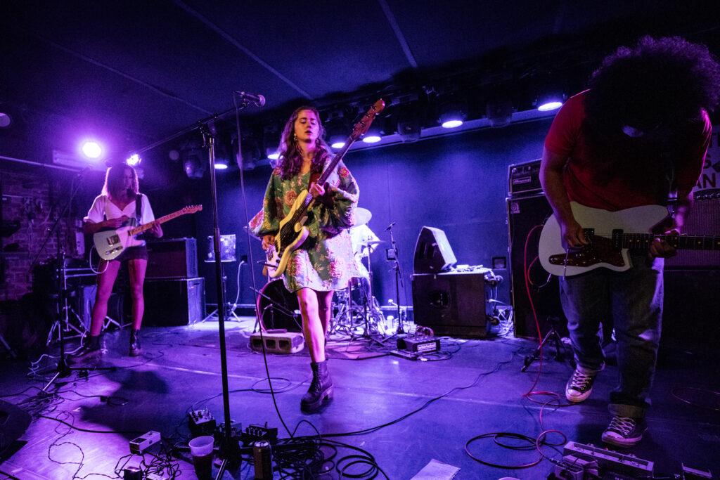 Groupie performing