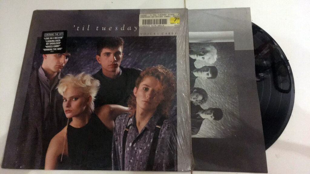 "'Til Tuesday ""Voices Carry"" LP cover"