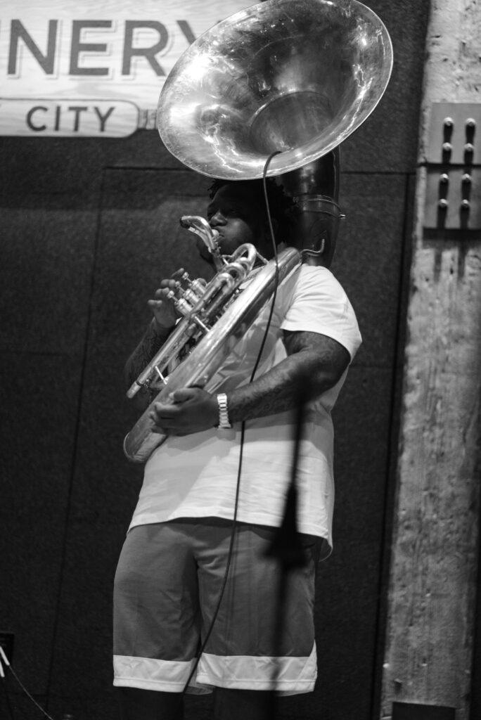 Rebirth Brass Band performing