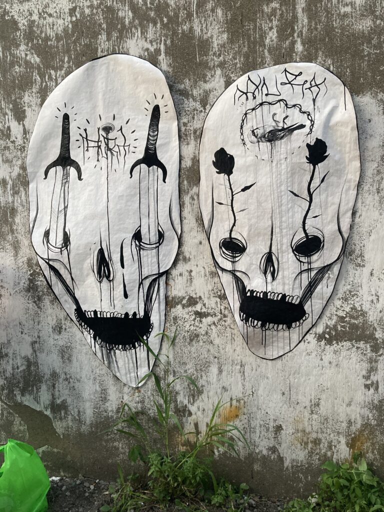 Art by Stoic Mortuorum featuring large skulls