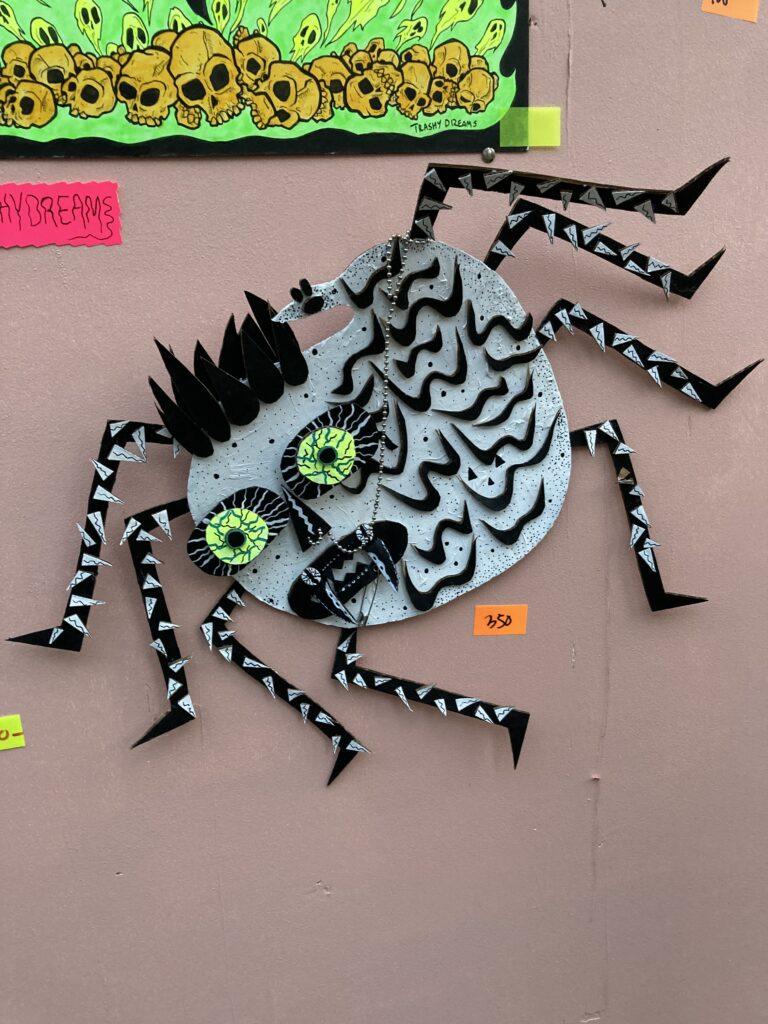 Artwork by Trashy Dreams of a cartoon spider