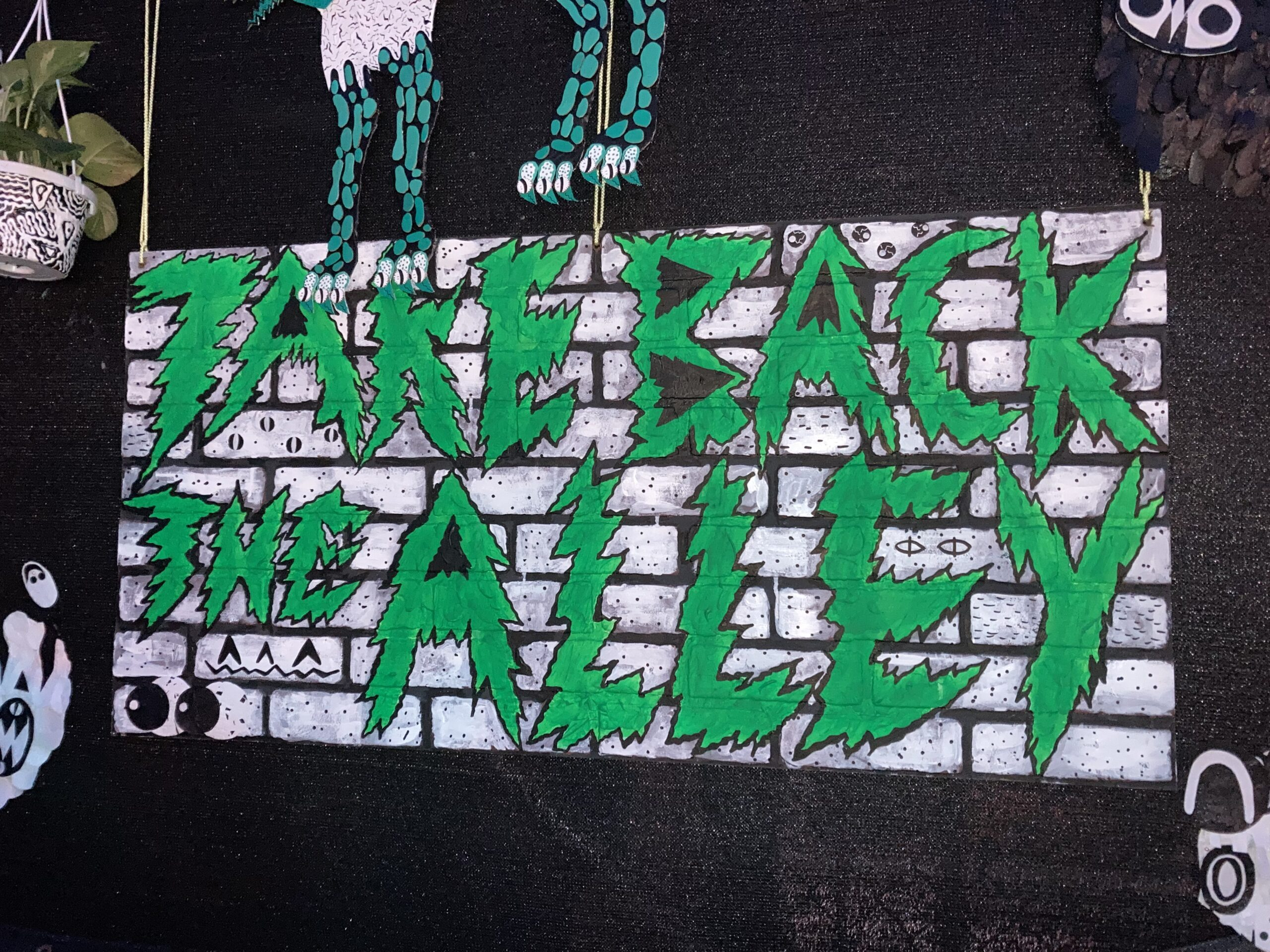 Take Back The Alley sign