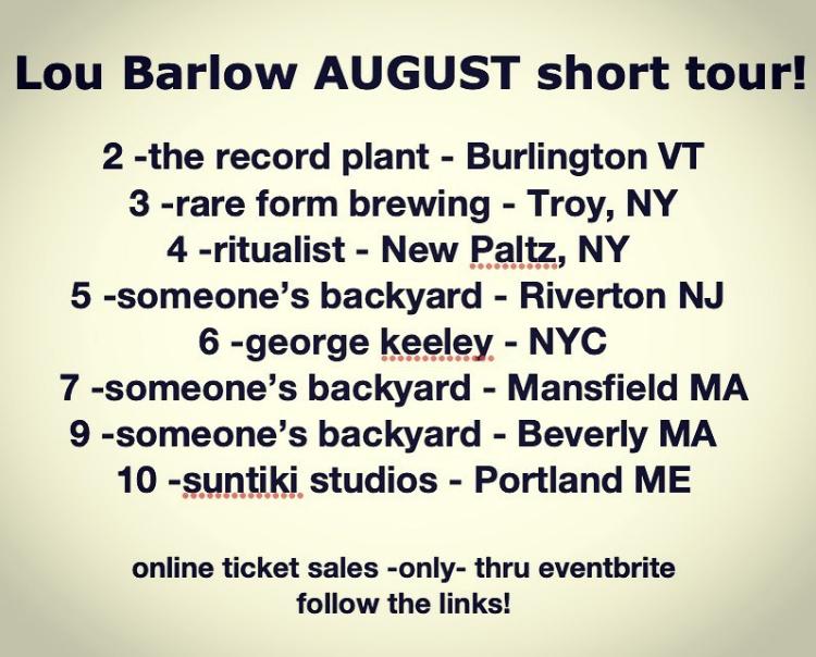 Lou Barlows tour dates