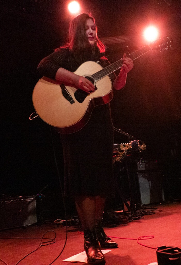 Lucy Dacus performing at Music Hall of Williamsburg
