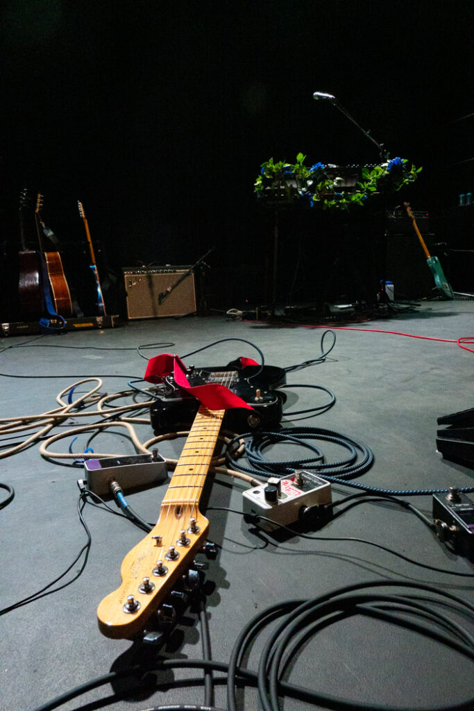 Lucy Dacus' guitar laying on stage