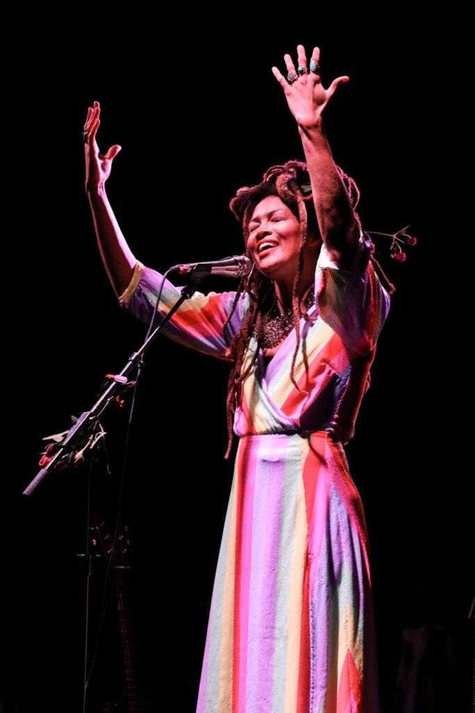 Valerie June performing